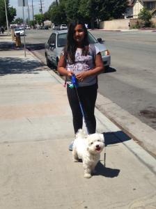 Jackieys sister walking Habiby