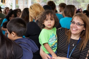 Volunteers were eager to hug and love on the babies!