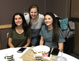 Table Leader Ashley with teen moms, Natalie and Courtney